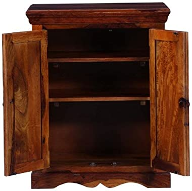 Shilpi Handicraft Solid Wood Cabinet for Living Room in Traditional Look