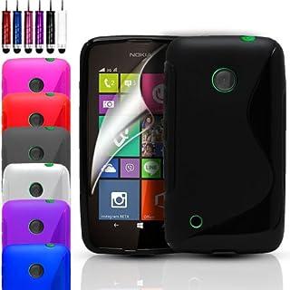 Telefonskydd – S-Line Wave Gel fodral skydd för olika telefoner och gratis skärmskydd – röd – Nokia Lumia 530