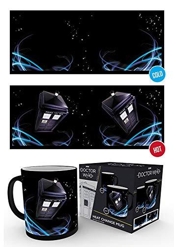 empireposter Doctor Who - Tardis - Thermoeffekt Tasse - Größe Ø8,5 H9,5cm