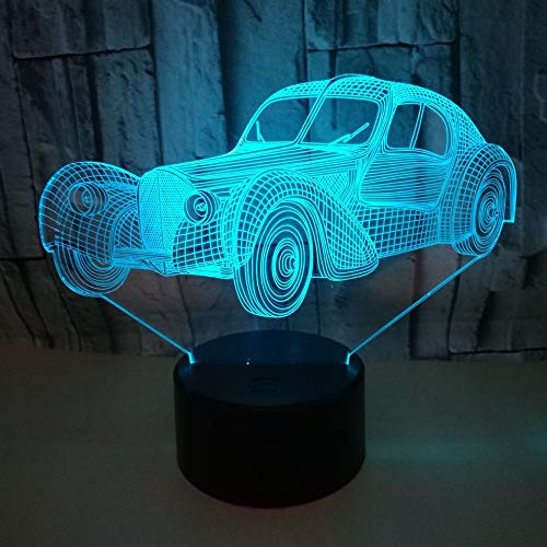 New Car Usb 3d Small night lamp gift originality 3d lighting new unique creative 7 colors touch lights