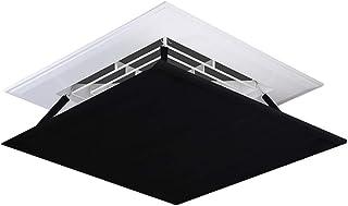 Deflector de aire acondicionado Aire Acondicionado Central del Parabrisas Ángulo de Tela Oxford Deflector Regulable Fácil de Instalar (Color : Black, Size : 60×60CM)