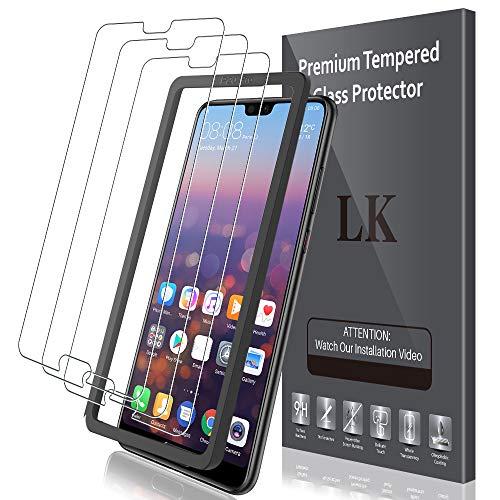LK Compatibile con Huawei P20 PRO Pellicola Protettiva, 3 Pezzi, 9H Durezza Vetro Temperato,Strumento Una Facile Installazione, Protezione Schermo Screen Protector, LK-X-62