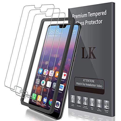 LK Compatible avec Huawei P20 Pro Verre Trempé, 2 Pièces,Protection écran,Cadre d'installation Facile,Dureté 9H,Protection d'écran Verre Trempe Vitre,LK-X-62
