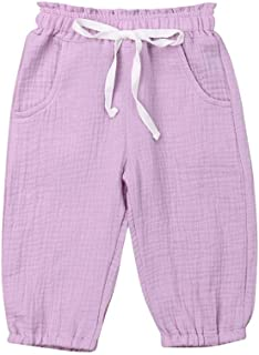 RongCun Toddler Cotton Knee Length Knit Shorts Solid Candy Sport Pants Baby Boys Summer Harem Pant