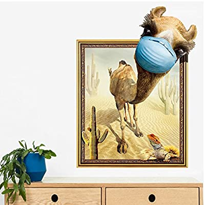 Funif 3D Animal Wall Sticker DIY Removable Wall Decals Wallpaper Decorative Wall Art Mural for Home