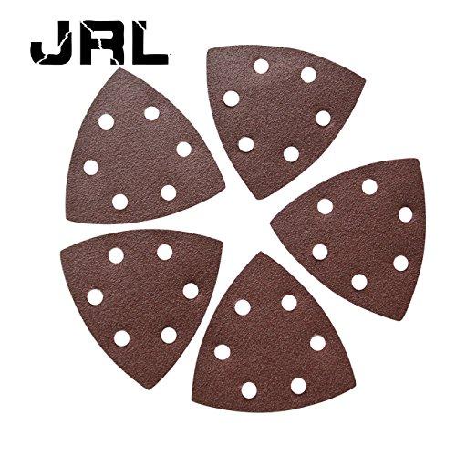 Jrl 5pc 90 mm * 90 mm * 90 mm disque de ponçage pour Grain 80 6 trous papier abrasif