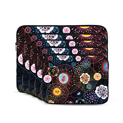 KUUDJIT Colorful Jellyfish Black 12/13/15/17 Inch Laptop Sleeve Bag for MacBook Air 13 15 MacBook Pro Portable Zipper Laptop Bag Tablet Bag,Diving Fabric,Waterproof
