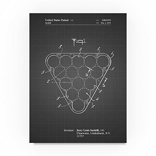 Billiard Ball Rack by Cole Borders, 24x32-Inch Canvas Wall Art