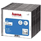 Hama - CD Slim Box, Black, Pack of 25 pcs, Negro