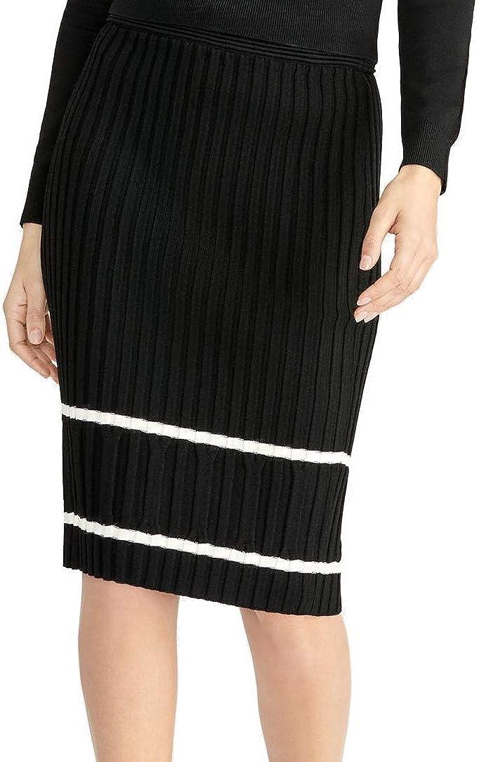 RACHEL Rachel Roy Womens Eden Stripe Ribbed Skirt