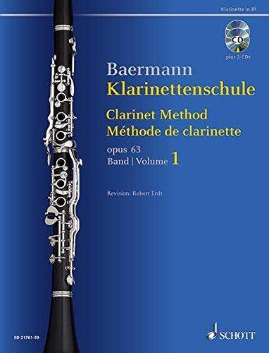 Klarinettenschule: Band 1: No. 1-33. op. 63. Klarinette in B. Ausgabe mit 2 CDs. (Baermann - Klarinettenschule)