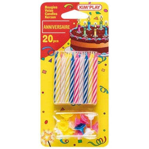 Cofalu - 613 - Décoration - 20 Bougies Multicolore