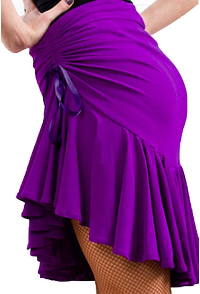 Moli Jupe de Danse Latine Bas pour la Pratique//Formation//Performance des Femmes Spandex Drap/é//Fronc/é//Jupe Pliss/ée Jupes /élastiques Tomb/ées