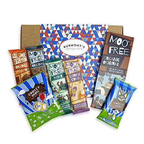 Moo Free Ultimate Chocolate Selection Hamper Gift Box - Dairy Free, Organic, Gluten Free & Vegan - Hamper Exclusive To Burmont's