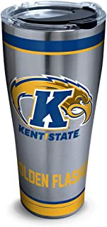 Tervis 1314331 NCAA Kent State Golden Flashes Tradition Stainless Steel Insulated Tumbler with Lid, 30 oz, Silver