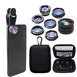 Mobile Wide-Angle Lens 7 in 1 Phone Professional Camera Lens kit, fisheye Lens