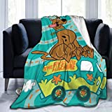 zhuo Scooby-Doo Ultra-Soft Micro Fleece Blanket for Couch Bed Warm Throw Blanket...