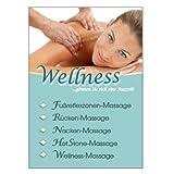 Massage-Poster für Reklame Massagen DIN A1, Werbeplakat