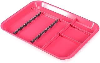 Easyinsmile Autoclavable Dental Instrument Set-Up Procedure Trays Divided (Fuchsia)