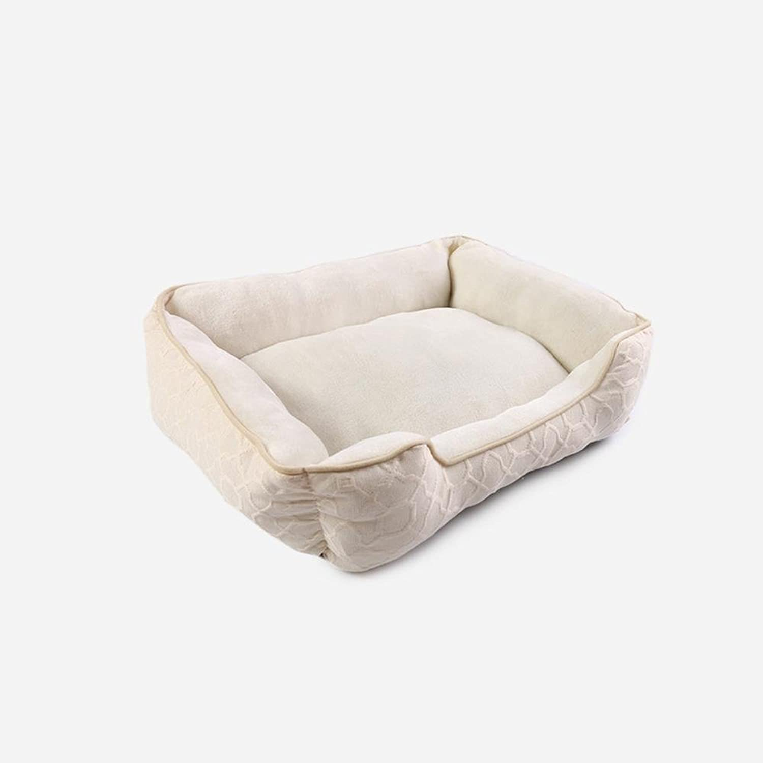 Lozse Pet Beds Square Flannel Kennel 61  45  15cm for Dogs and Cats Sleeping Cushion