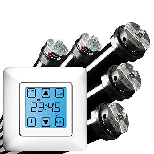 NOBILY *** PROFI-SET/Maxi - Rolladenmotor Rohrmotor Rolladenantrieb P5 20/15-60 (Zugkraft 50kg) + Vestamatic Quattro S50 Zeitschaltuhr EAN 4260355820951
