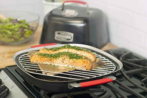 Charcoal Companion CC4132 KitchenQue Indoor Stovetop Smoker, 13.5' x 12.5' x 9.5', Black