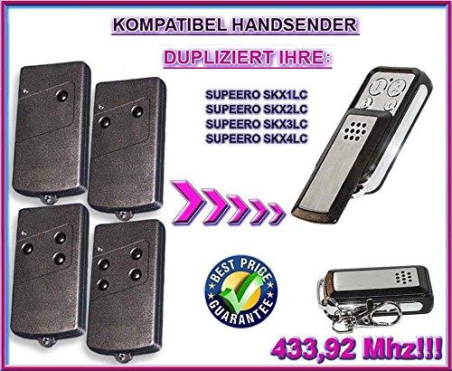 Supeero SKX1LC , SKX2LC , SKX3LC , SKX4LC kompatibel handsender, klone fernbedienung, 4-kanal 433,92Mhz fixed code. Top Qualität Kopiergerät!!!
