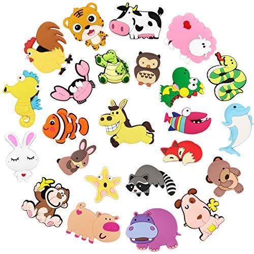 Magnete Kinder Magnete Kühlschrank, Picberm Kühlschrankmagnete Tiere Lustige Stark Magnet Spiele Tier Magnete für Magnettafel Whiteboard Küche Büro und Klassenzimmer 24 Stück
