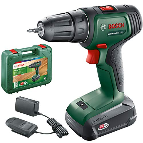 Bosch Cordless Drill UniversalDrill 18 V (1 battery, 18 Volt system, in carrying case)