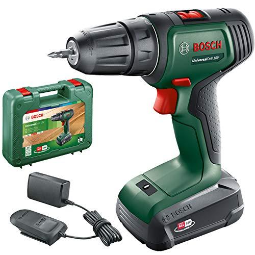 Bosch Home and Garden 06039D4001 Bosch Akkuschrauber UniversalDrill 18 (1 Akku, 18 Volt System, im Koffer)
