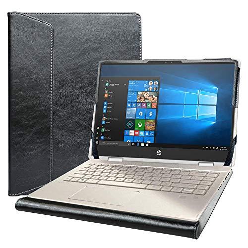 """Alapmk Specialmente Custodia Protettiva per 14"""" HP Pavilion x360 14m-dwXXXX/HP PRO c640 Chromebook/HP Chromebook 14a-naXXXX/HP Chromebook x360 14c-caXXXX & dell Inspiron 14 2-in-1 5400 7405,Nero"""