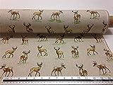 Hirsch & Hirsch Braun Beige Leinenoptik Hochwertig Fabric