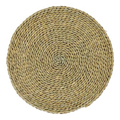 Cojín de tatami para el suelo, cojín para ventana, cojín de meditación, puf redondo de paja para Zen para el hogar, para adultos, para decoración de ventana salediza