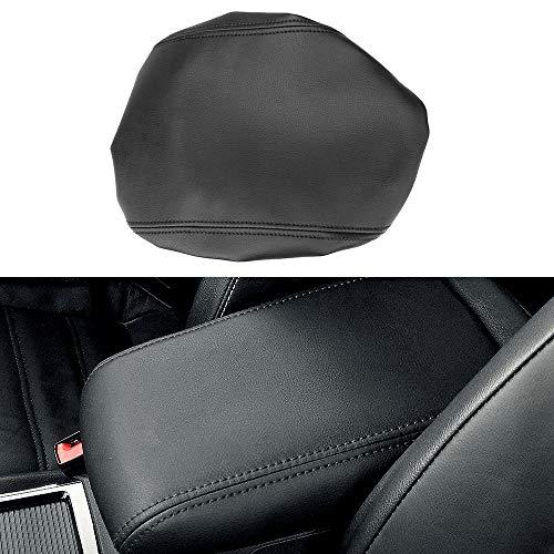 MLING Auto Mittelkonsole Armlehnen Abdeckung Schutz Kompatibel für CX-5 CX5 2017 2018 2019 2020 (Schwarz)