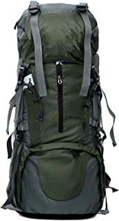 HW Mochila De Senderismo 75L Impermeable, para Viajes, Camping, Senderismo, Senderismo,Green