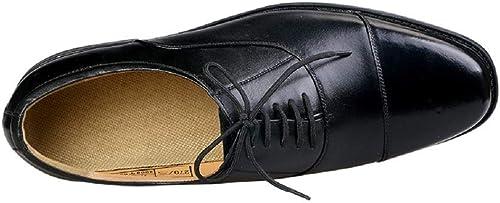 Fuxitoggo Hommes Chaussures Souples à Lacets de Ville de Travail Bout Rond