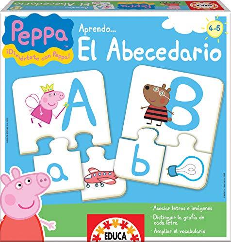 Educa Borras Puzzle Aprendo El Abecedario Peppa Pig