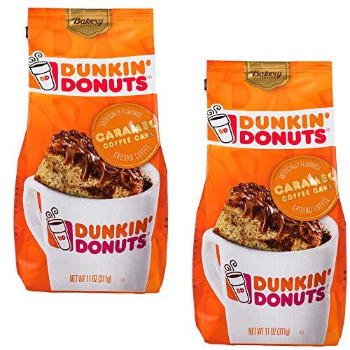 Dunkin Donuts Bäckerei-Serie Caramel Kaffee-Kuchen, aromatisiert gemahlener Kaffee - (Pro Beutel 2-Pack) - Amerikanische Imported Geröstete Kaffee, 311 g (11 oz. Caramel Coffee Cake Ground Coffee)