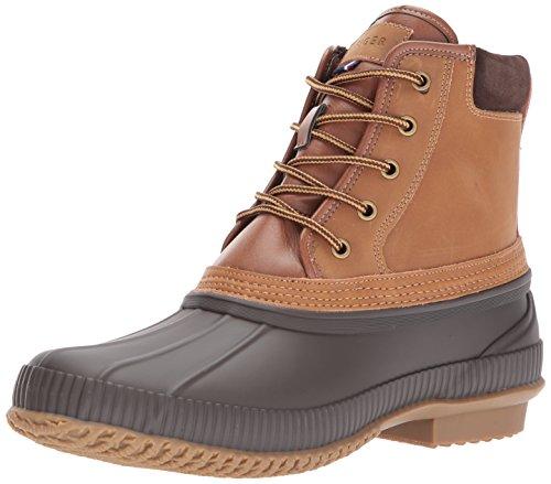 TOMMY HILFIGER Men's Casey Rain Boot, Cognac, 7 Medium US