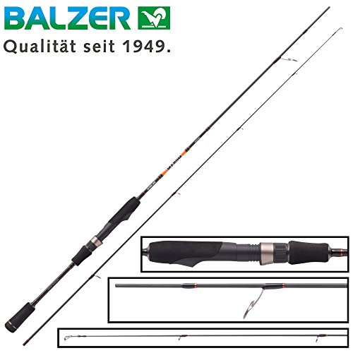 Balzer Shirasu Spoon 1,83m 0,5-4g - Ultra Light Rute Zum Spinnangeln auf Forellen, Spinnrute für Forellenblinker, Forellenrute