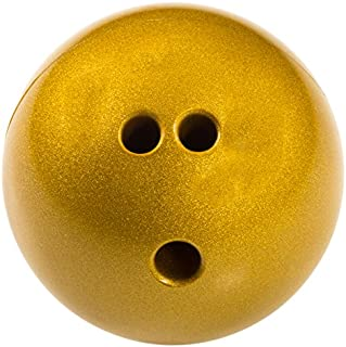 cosom 保龄球球带额外的手指孔适用于小学物理教育特殊需求青年派对游戏橡胶 Bowling BALL 儿童保龄球2.3kilogram 金色闪亮