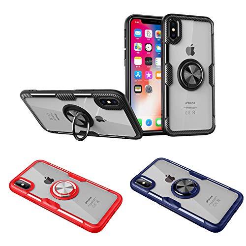 Wephone Accesorios Funda Anillo TPU Silicona Cristal Transparente para Apple (iPhone 11...