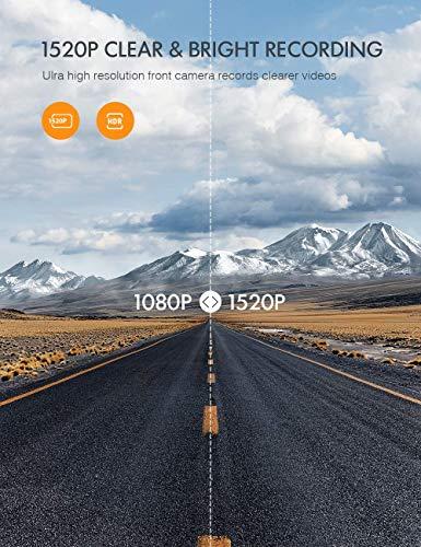 APEMAN 1440P&1080P Dashcam vorne und hinten, Maximal 1520P, 128 GB Unterstützung, 170° Dashcam Autokamera mit 3 Zoll IPS-Bildschirm, Nachtsicht mit IR-Sensor, Bewegungserkennung, Einpark-Monitor - 7