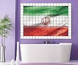 Fliesenaufkleber Iran Fahne Flagge 15 10 25 20 cm Fliesenbild Fliesen Kachel Fliesenbilder Aufkleber Bad Küche 8A426, Bildformat:75cmx50cm;Fliesengröße:Fliese 20x15cm