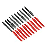 RAYCorp 5030 5x3 Propellers. 20 Pieces(10 CW, 10 CCW) - Black & Red - Genuine & 5-inch Quadcopter and Multirotor Props + Battery Strap