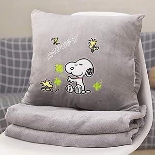YYBF Almohada de Dibujos Animados Almohada de Siesta Almohada Aire Acondicionado Colcha de Dos usos Manta de cojín Multifuncional Grey Dog