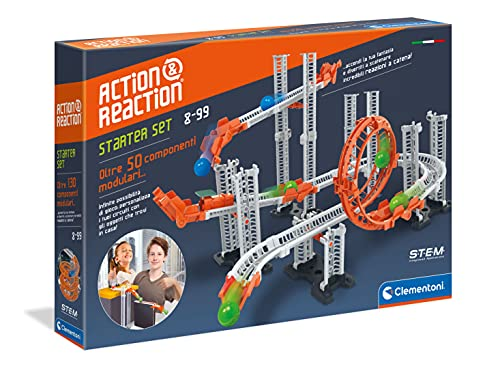 Clementoni- Azione e Reazione-Starter Set, Multicolore,...