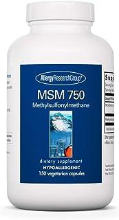 Allergy Research Group - MSM 750 mg - Methylsulfonylmethane, Joint Health - 150 Vegetarian Capsules