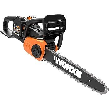 Worx WG384 40V Power Share Cordless 14-inch Chainsaw w/ Auto-Tension (2x20V Batteries)