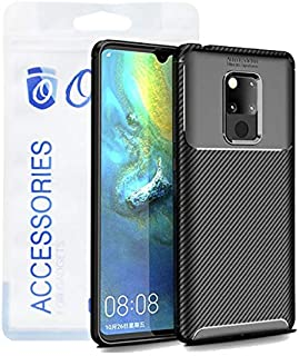 Ozone Huawei Mate 20 X Mobile Cover Carbon Fiber Series Protective Phone Case - Black